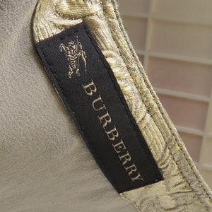 Burberry Dresses - Burberry Gold Brocaded Dress /w Side Zipper, 2-4.
